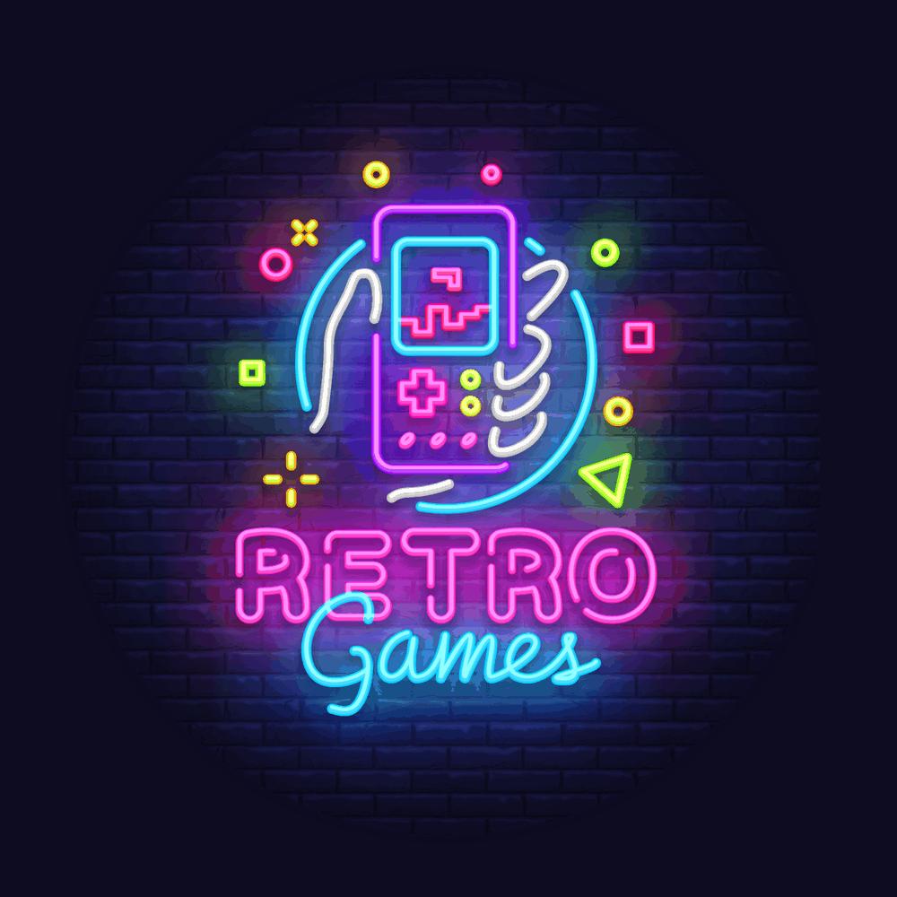 retro games neon