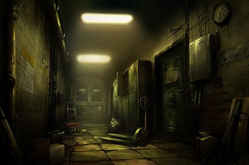 The Prison VR experience a prison corridor