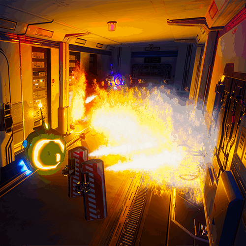 Robots Signal Lost VR experience robots spitting fire