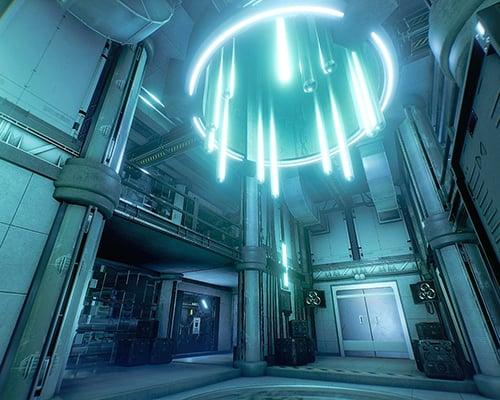 Cyberpunk VR escape room screenshot