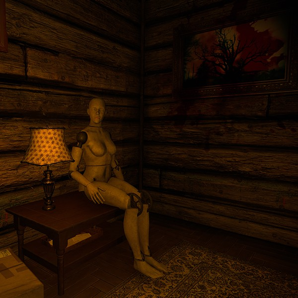 House of Fear VR experience mannequin sitting on a table