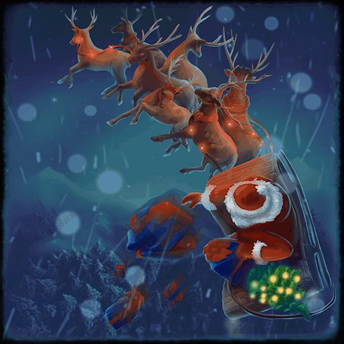Christmas VR experience santa riding his sleigh
