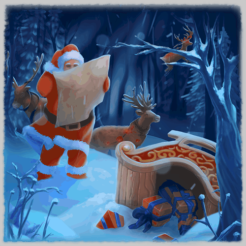 Christmas VR experience santa lost in a forest