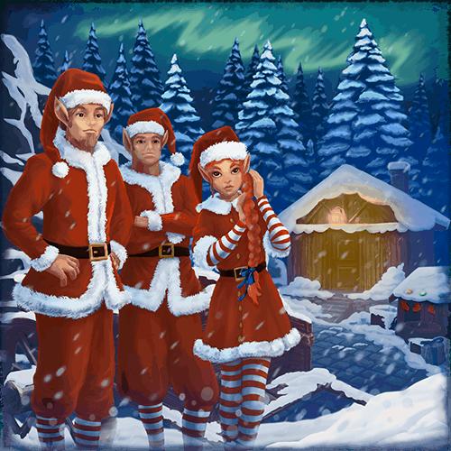 Christmas VR experience santas workers