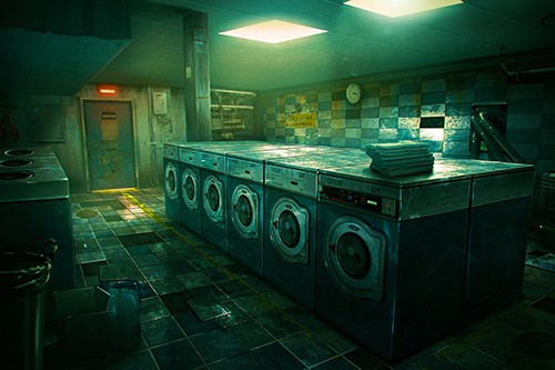 The Prison VR experience laundry room