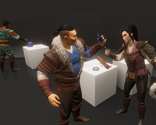Lobby Dagger of Time VR escape room screenshot