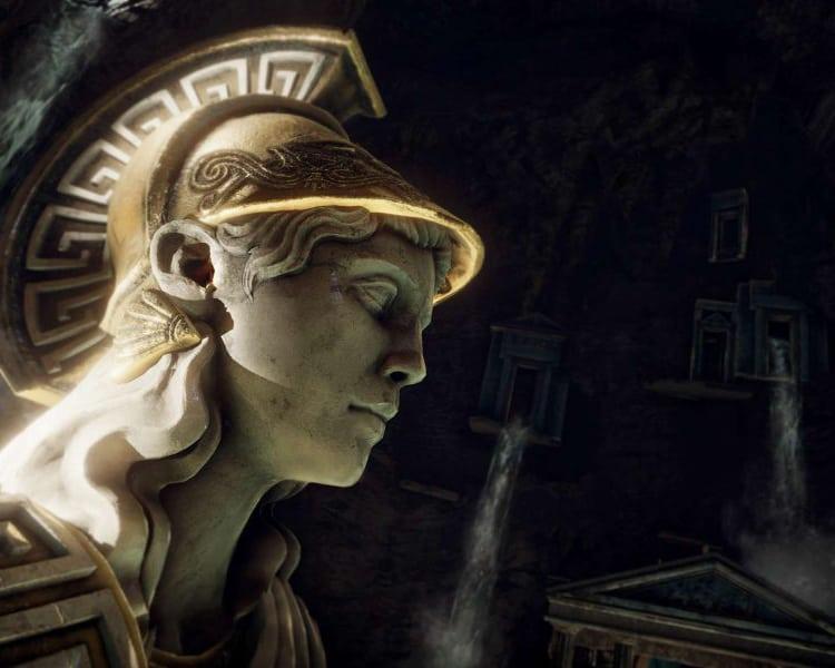 Beyond Medusa's Gate VR experience a statue