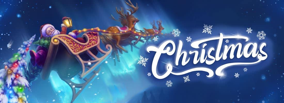 Christmas VR experience santa on his sleigh