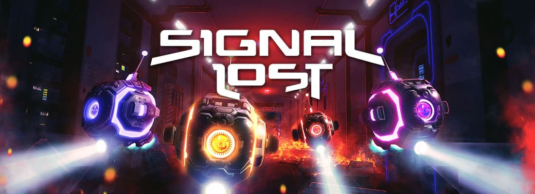 Signal Lost VR escape room screenshot a group of robots with flashlights