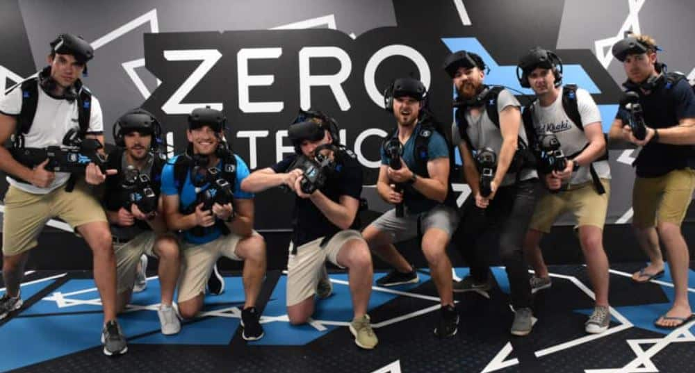 zero latency VR experience group photo