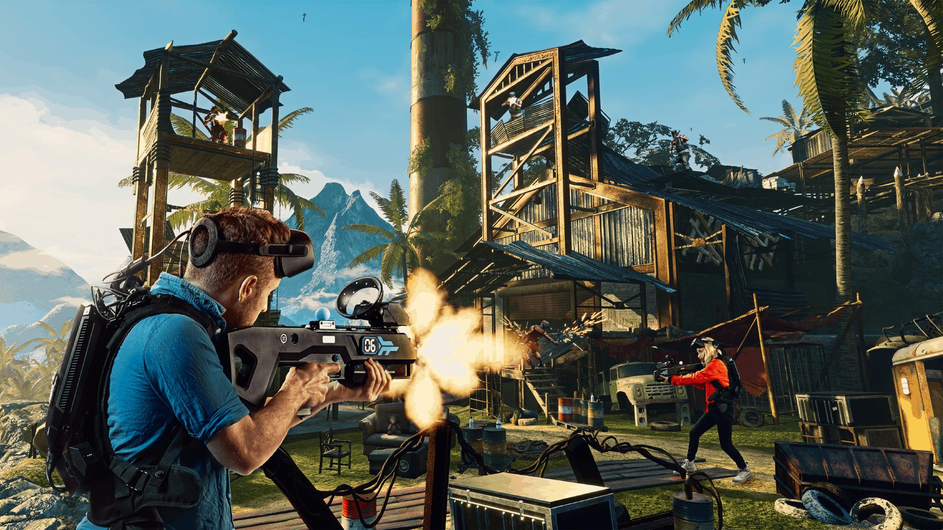 Far Cry free roam VR arena experience VR game screenshot