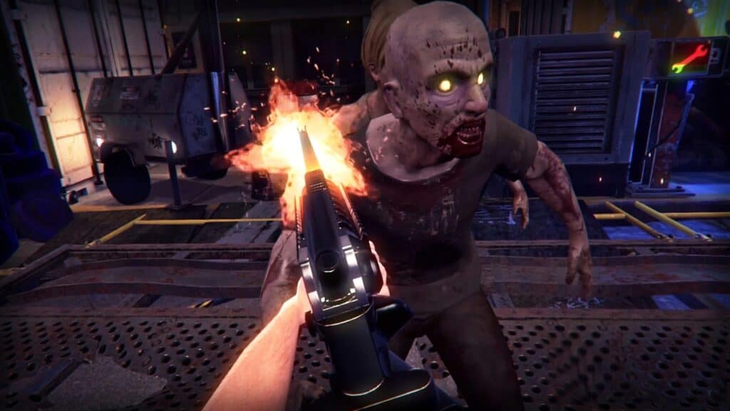 VR gaming features; Zombie Survival Screenshot